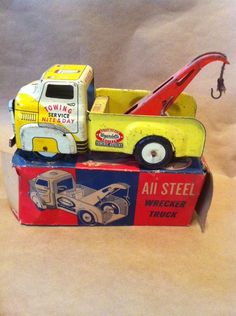 Antique Wyandotte All Steel Wrecker Toy Truck with Original Box Super RARE Sold $51.00