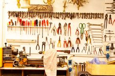 Fendi tool room fully equipped with vintage keys!