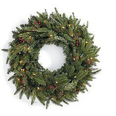 Madison Fraser Cordless Wreath - ELLEDecor.com