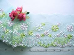 Lace trim embroidered tulle trim embroidered net by raincrazy133, $5.25