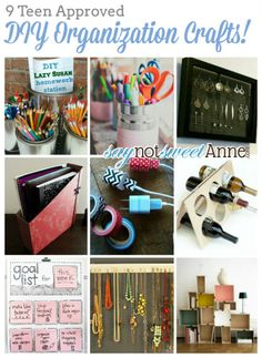 DIY Organization for Teen's Room