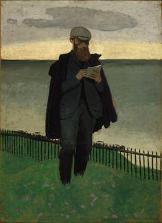 Félix Vallotton (France, 1865-1925)  Vuillard Drawing at Hornfleur 1902