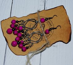 Items similar to Long Pink Chandelier Earrings - Boho Earrings Handmade - Gypsy Earrings - Indian Earrings - Jewelry For Her Anniversary - Gift For Women on Etsy Indian Earrings, Boho Earrings, Earrings Handmade, Etsy Jewelry, Boho Jewelry, Jewellery, Pink Chandelier, Chandelier Earrings, Jewelry For Her