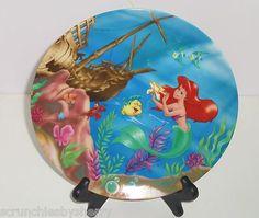 Walt Disney LIttle Mermaid Ariel Plate CollectorTheme Parks Vintage Japan in Box