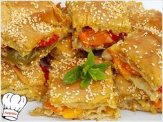 Greek Recipes, Vegan Recipes, Cooking Recipes, Spanakopita, Salmon Burgers, Recipies, Appetizers, Food And Drink, Chicken