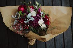 Flowers colours kraft paper