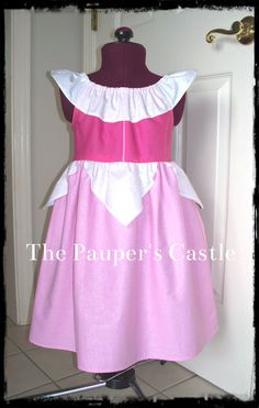 Casual Cotton Sleeping Beauty / Princess Aurora Dress / Costume