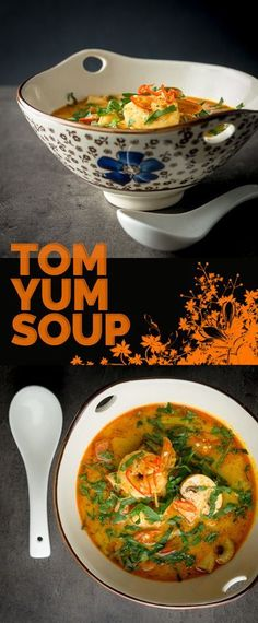 Tom yum soup is a Thai mainstay with thousands of versions of the recipe out there, this one is mine, characteristically (for me) spicy and warming and packed with shrimp and mushrooms
