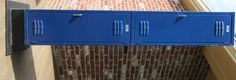 Vintage Royal Blue Two Door Standing Lockers by PortlandiaRevibe on Etsy