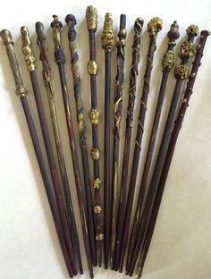 Harry Potter wands!! Perfect accompaniment to your little one's Harry Potter or magical party. These are handmade so no two wands are exactly alike.