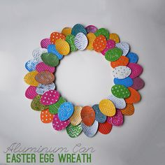 Aluminum Can Easter Egg Wreath