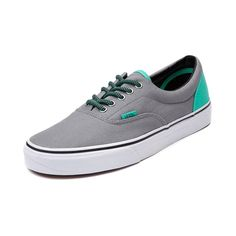 Shop for Vans Era Skate Shoe, Gray Green, at Journeys Shoes. Classic vulcanized shoe from Vans thats perfect for skating or everyday wear. Features a canvas upper with color pop heel, padded collar, and vulcanized waffle outsole.