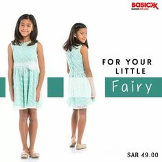 This regular fit #frock for your little #princess will give her the perfect #fairy look all day long. Shop it now. #Basicxx #BasicxxOnline #BasicxxKids #InspirationFulfilled #Riyadh #Jeddah #Dhahran