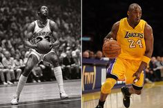Joe Bryant- Left, and Kobe Bryant- Right
