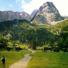 Reutte in Tyrol, Austria. Local bike routes connect with the Romantic Road Bike Route of Germany.