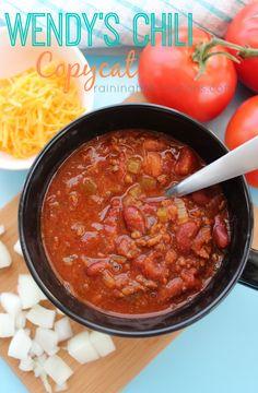 Copycat Wendy's Chili - SO GOOD!!