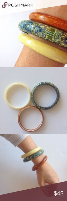 vintage bangles excellent condition vintage resin bangles from the 70's. high quality! Jewelry Bracelets