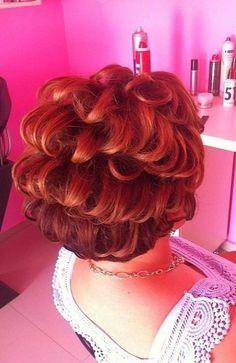 Permed Hairstyles, Hairdos, Bouffant Hair, Super Hair, Big Hair, Redheads, Pixie, Salons, Short Hair Styles