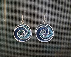spiral earrings made with nespresso pods by Stequadro on Etsy