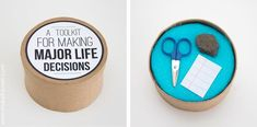 Rock paper scissors (maybe lizard spock). Love this.  Also a fun white elephant gift.