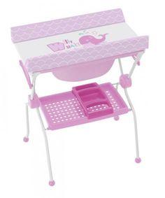 Bañera cambiador sobre bidé King Baby ballena rosa [837 WHALE] | 94,50€ : La tienda online para tu peke | tienda bebe pekebuba.com
