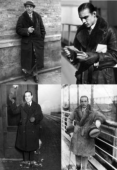 voxsart:  The Trimmed Lapel: When You Are Serious About Outerwear. Rudolph Valentino.