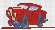 Free car cross stitch pattern