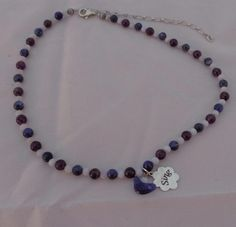 Amethyst Sterling Silver Charm Bead Necklace Carolyn Pollack Relios Jewellery