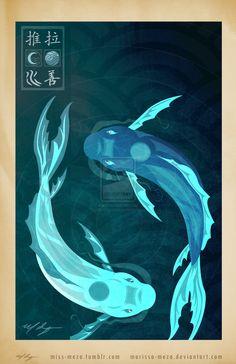 Original Bending Masters Series: Tui and La by Marissa-Meza on deviantART