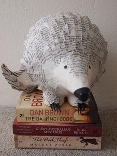 Anteater - paper mache sculpture - Janaki Lele Talent supported by www.ArtforBarks.org