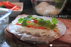 Fresh, crunchy rice paper rolls in minutes. Couldn't be easier!