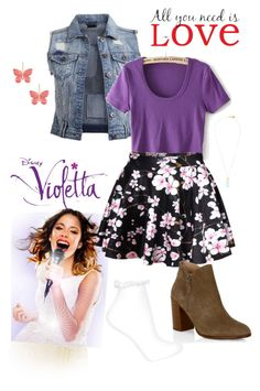 """Violetta Outfit / Martina Stoessel"" by violettaoutfits ❤ liked on Polyvore featuring VILA, WallPops, Topshop, Kenneth Jay Lane, Whistles, women's clothing, women's fashion, women, female and woman"