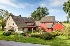 As romantic as any farmhouse I've ever seen. Glendel Farm Berks County Pennsylvania listing (1)