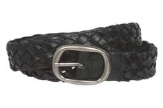 1 1/4'' Womens Braided Woven Leather Belt Size: L/XL - 40'' Color: Black Made by #beltiscool Color #Black. Oval buckle. Soft leather 100% solid. 100% hand braided #braidedbeltblack