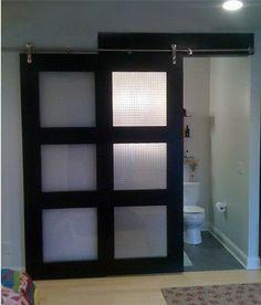 Nice Asian Style Sliding Door With Acrylic Panels
