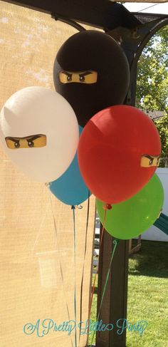 Bomber man | Ninja party balloon idea