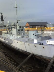 HMS M33 (during restoration in February 2007), She saw active service in the Mediterranean during the First World War and in Russia during the Allied Intervention in 1919. She was used subsequently as a mine-laying training ship, fuelling hulk, boom defence workshop and floating office, being renamed HMS Minerva and Hulk C23 during her long life.She is one of only three surviving Royal Navy warships of the First World War and the only surviving ship from the Gallipoli Campaign.