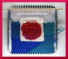 Tapestry woven on potholder loom by Noreen Crone-Findlay.  Click on link to go to Tottitalkscrafts to see her fabulous finished tapestry.