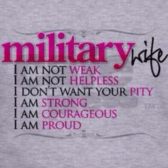 May be a retired military wife, but it's still all true! tls