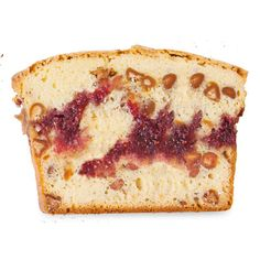 Dress up a store-bought pound cake mix with peanut butter chips and raspberry jam for a fun twist on PB & J.