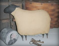Early Mantle Sheep A Primitive Folk Art Pattern por thegoodewife