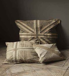 Vintage flag pillows