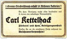 Original-Werbung/ Anzeige 1939 - REICHSWERBEWOCHEN / REINIGUNG CARL KETTELHACK…