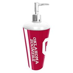 Oklahoma Sooners NCAA Bathroom Pump Dispenser