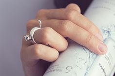 Cat ring (sterling silver) on Etsy, $49.00 Emma