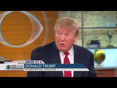 Donald Trump Latest Interview on  Syria & Russia | CBS This Morning