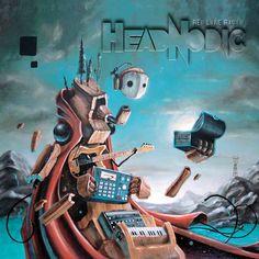 Matt Linares cover art for Hednodic's Red Line Radio album
