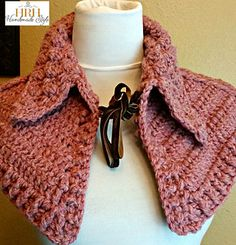 A capelet like this a great for something cute to an already great outfit. Crochet it using post stitches. Would work up quickly with Wool-Ease Thick & Quick.