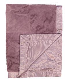 Look at this #zulilyfind! Mauve Satin Plush Blanket by Lambs & Ivy #zulilyfinds
