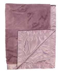 Look at this #zulilyfind! Mauve Satin Plush Blanket by Lambs & Ivy #zulilyfinds